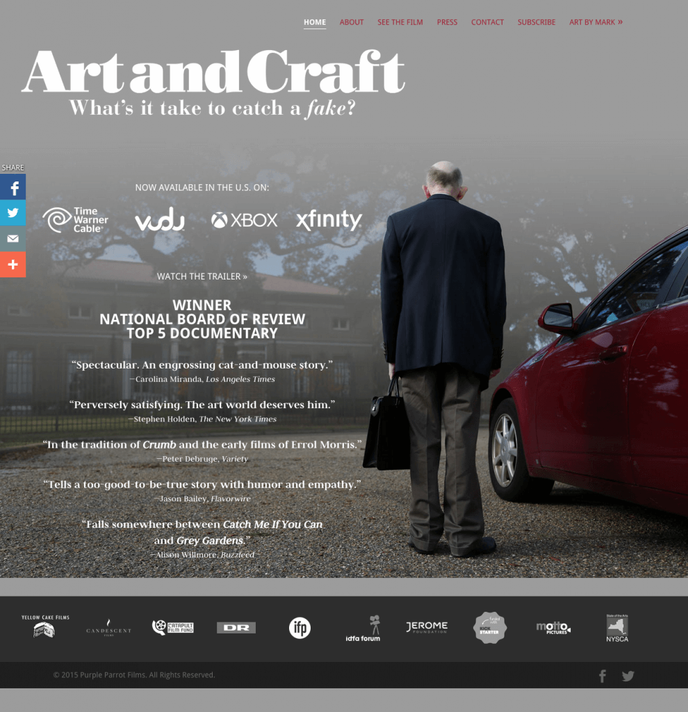 ART AND CRAFT a documentary film